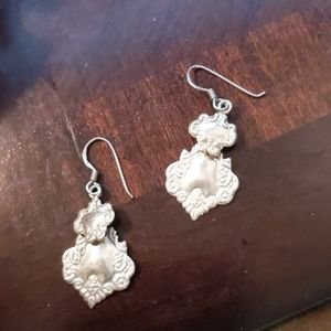 Sterling Silver Vintage Dangling Spoon Earrings